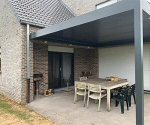 overdekt terras aan huis